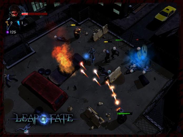 Lute contra robôs e humanos no game (Foto: Divulgação/Clever-Plays)