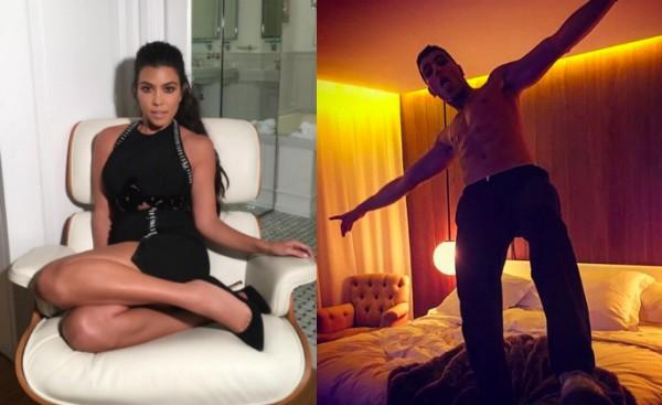 Kourtney Kardashian e seu novo namorado, o modelo Younes Bendjima (Foto: Instagram)