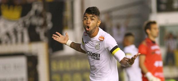 Gabriel gol Santos (Foto: Mauricio de Souza / Ag. Estado)