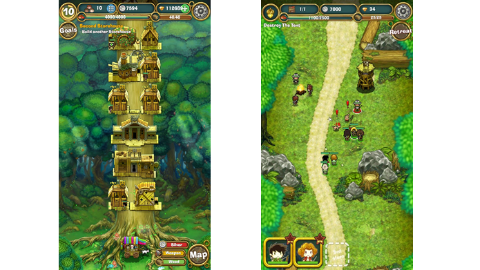 Little Raiders: Robin's Revenge mistura diferentes gêneros de jogo (Foto: Divulgação/Ubisoft)