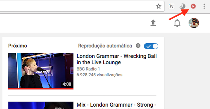 Ícone da extensão ImprovedTube dá acesso as configurações para o YouTube (Foto: Reprodução/Marvin Costa)