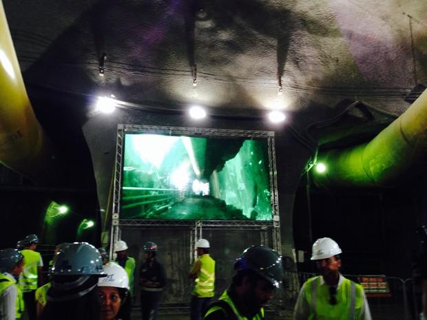 Túnel da Linha 4 do metrô é concluído no Rio (Foto: Renata Soares/G1)