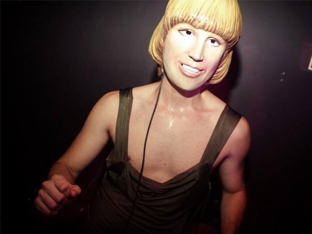 Ricck Lopes vestido como Gina Idelicada durante festa (Foto: Arquivo Pessoal/ Ricck Lopes)