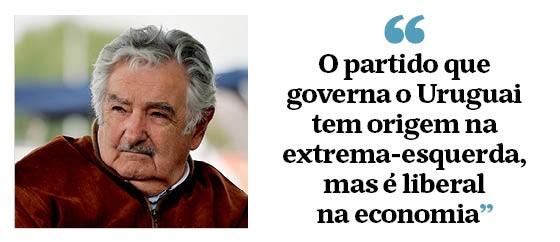 """""""O partido que governa o Uruguai tem origem na extrema-esquerda, mas é liberal na economia"""" (Foto: Época )"""