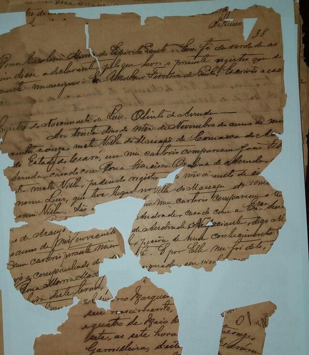 Documentos da Inquisição portuguesa registram a vida de Branca Dias no Nordeste brasileiro (Foto: Assis Arruda/Arquivo pessoal)