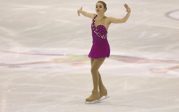Isadora Williams no Mundial Júnior de patinação no gelo, em Milão (Foto: Getty Images)