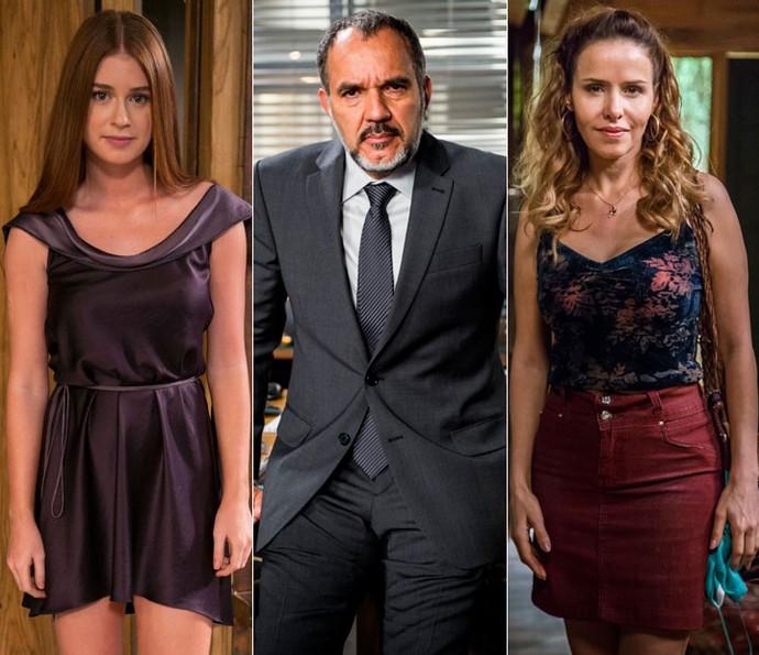 Eliza, Germano e Gilda: relembre momentos da trama (Foto: Inácio Moraes/Gshow e João Miguel Júnior/Paulo Belote/Globo)