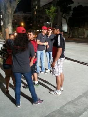 Funcionários do Maracanã (Foto: GLOBOESPORTE.COM)