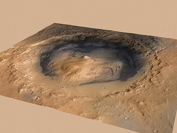 Cratera Gale Curiosity Marte (Foto: Nasa/AP)