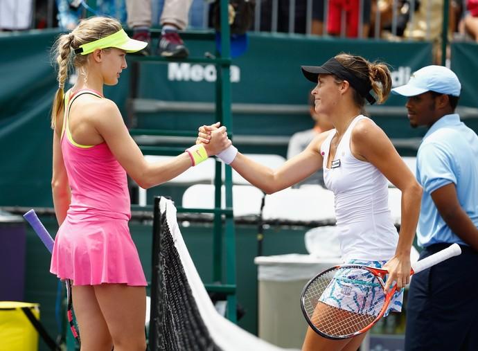 Eugenie Bouchard x Tatjana Maria - WTA de Miami (Foto: AFP)
