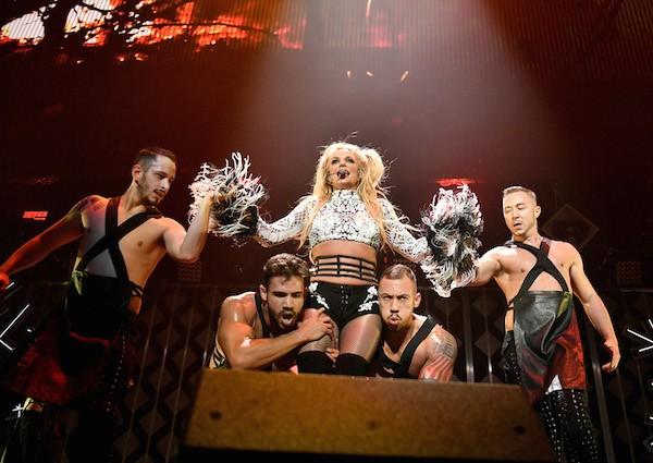 A cantora Britney Spears em um show (Foto: Getty Images)