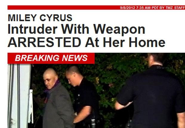 Homem invade casa de Miley Cyrus (Foto: reprodução/ tmz)