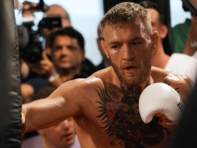 Conor McGregor; treino aberto; May-Mac; (Foto: Evelyn Rodrigues)