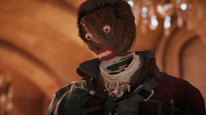 Assassins Creed: Unity: jogo possuía assustador bug que removia face dos personagens (Foto: Reprodução/Gamespot)