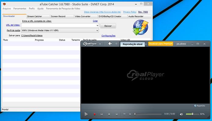 Atube Catcher e Real Player podem ser usados conjuntamente no PC (Foto: Reprodução/Paulo Alves)