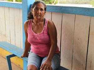 Agricultora Maria do Rosário Rodrigues disse ter perdido plantação pela falta de chuvas (Foto: Suelen Gonçalves/G1 AM)