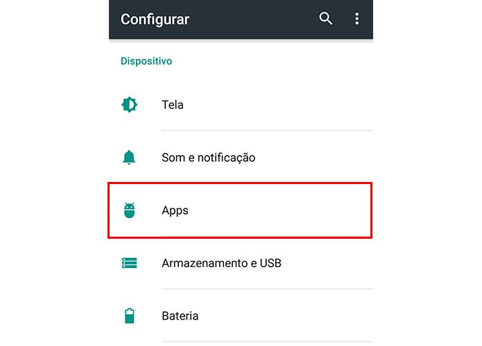 Acesse o menu de aplicativos (Foto: Reprodução/Paulo Alves)