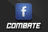 Siga o Combate também na página do canal no Facebook! (Editoria de Arte)