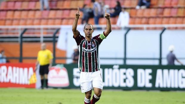 Leandro Euzébio faz gol - Corinthians x Fluminense (Foto: Marcos Ribolli / Globoesporte.com)