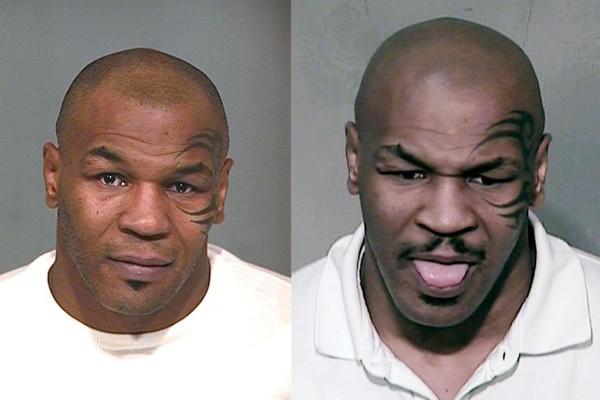 Mike Tyson em 2004 e em 2006 (Foto: Reprodução)