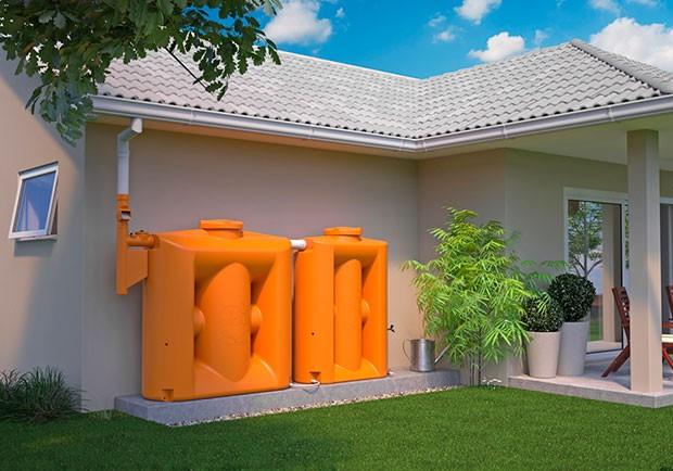 Cisterna slim aparente. Prática, moderna, fácil de instalar. Sem obras (Foto: Foto: Tecnotri, divulgação)