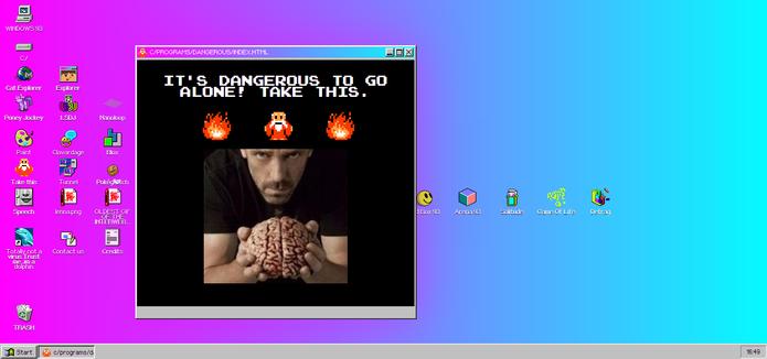Windows 93 traz diversas piadas e programas sem utilidades (Foto: Reprodução/Elson de Souza)