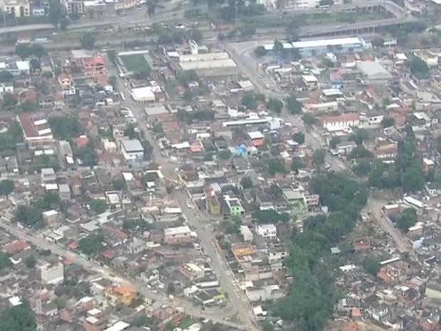 Comunidade da Vila Aliança, na Zona Oeste do Rio (Foto: Reprodução/ TV Globo)