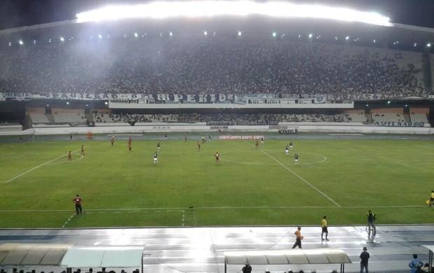 Mais de 20 mil torcedores empurraram o Remo no Mangueirão contra o Fla (Foto: Brenno Rayol/TV Liberal)