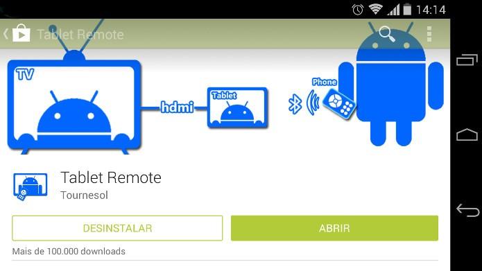 Primeiro passo é baixar o aplicativo em ambos os dispositivos (Foto: Reprodução / Dario Coutinho)