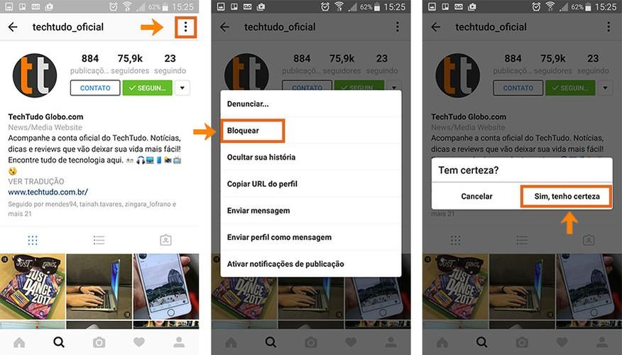 Bloqueie o perfil da pessoa no Instagram pelo celular (Foto: Reprodução/Barbara Mannara)