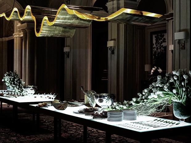 A sala de jantar de Angela Mahler pronta para a festa (Foto: Camila Camacho / TV Globo)