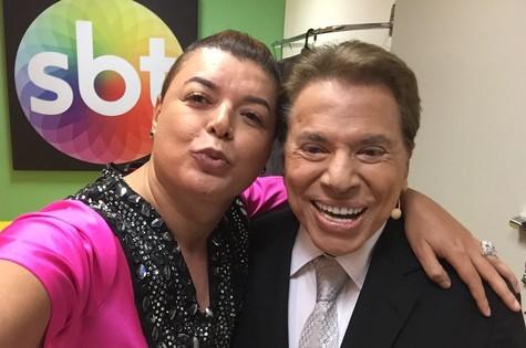 David Brazil e Silvio Santos (Foto: Arquivo pessoal)