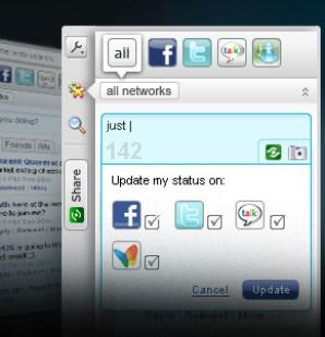 Junte todas as suas redes sociais! Basta baixar Yoono para Google Chrome