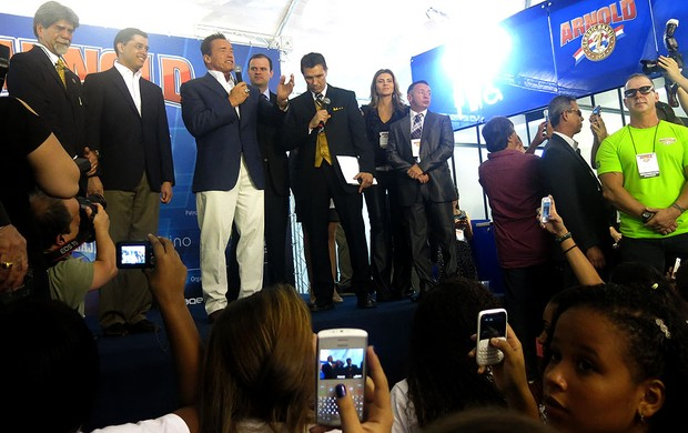 Arnold Schwarzenegger evento Força Bruta Rio de Janeiro (Foto: Amanda Kestelman)