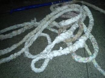 Corda teria sido usada para fuga de detentos em Rondonópolis (Foto: Assessoria/PM)