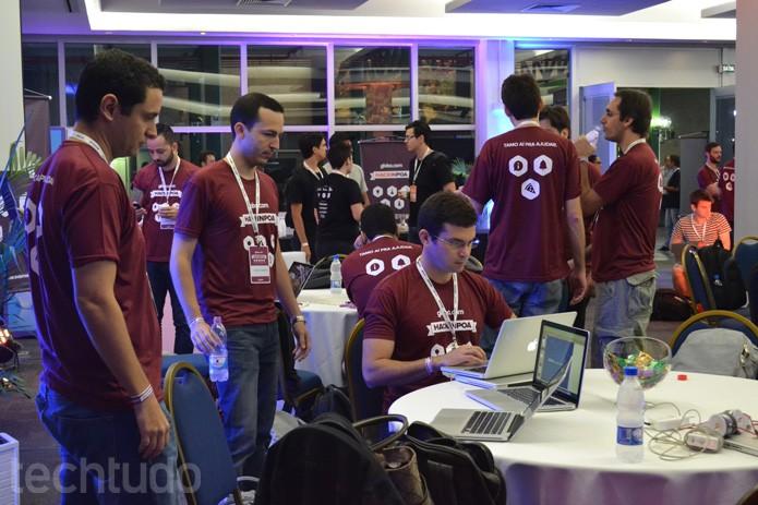 Equipes do Hack in PoA são recebidas pelos profissionais da Globo.com para hackathon (Foto: Melissa Cruz / TechTudo)