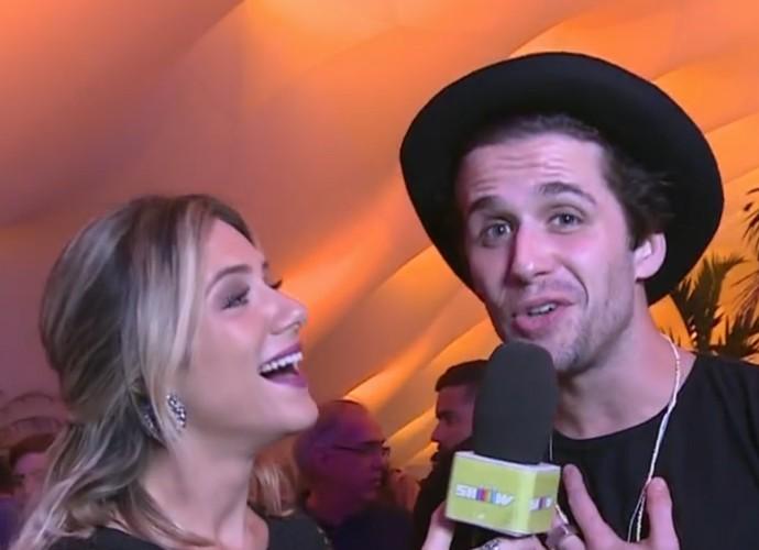 Gil Coelho curte último dia de Rock in Rio (Foto: Vídeo Show / TV Globo)