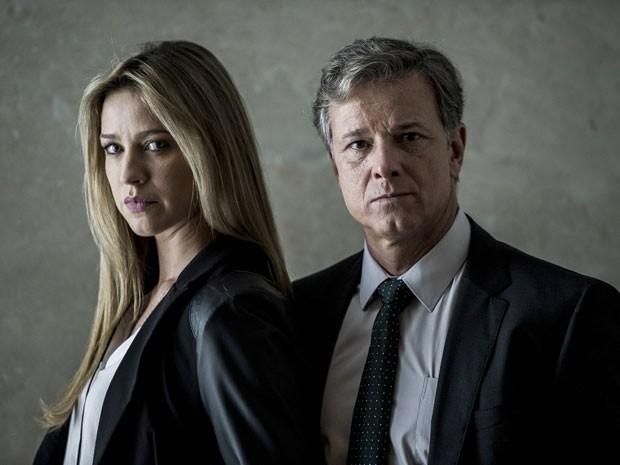 Ao lado de Luana Piovani, o ator lidera a investigação  (Foto: Estevam Avellar/TV Globo)
