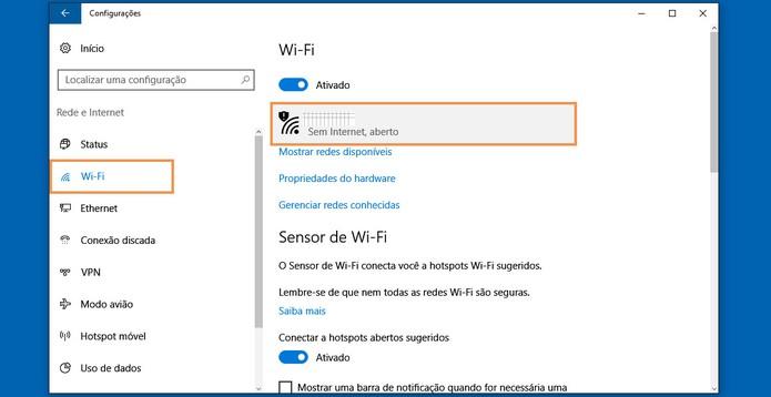 Clique na rede Wi-Fi aberta ou pública para ver mais recursos (Foto: Reprodução/Barbara Mannara)