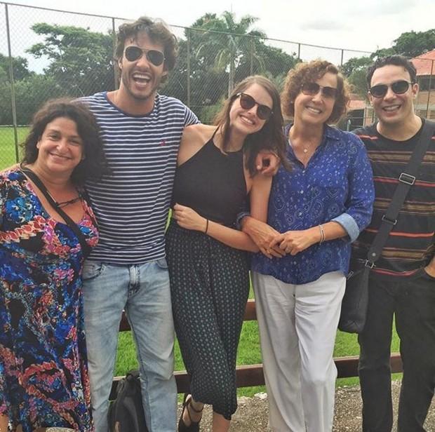 Haja Coração: Grace Gianoukas, Nando Rodrigues, Agatha Moreira, Claudia Jimenez e Marcelo Medici (Foto: Reprodução/Instagram)