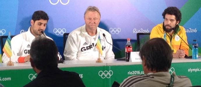 Horst Hrubesch técnico da Alemanha (Foto: Ruan Melo)
