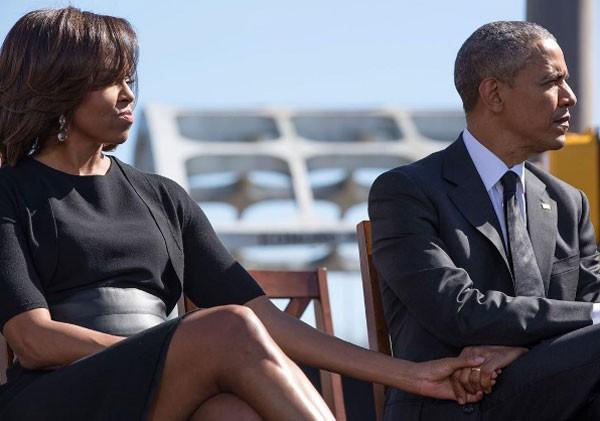 Michelle e Barack Obama durante evento oficial (Foto: Reprodução Instagram)