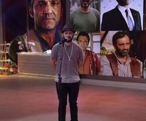 Bráulio Bessa faz cordel para Domingos (Foto: TV Globo)