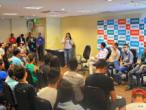Convenção da Rede Sustentabilidade ocorreu em Rio Branco na tarde deste sábado (23) (Foto: Caio Fulgêncio/G1)