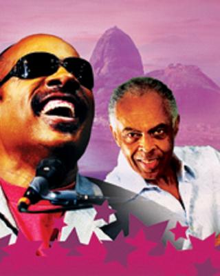 Stevie Wonder e Gilberto Gil (Foto: Divulgação)