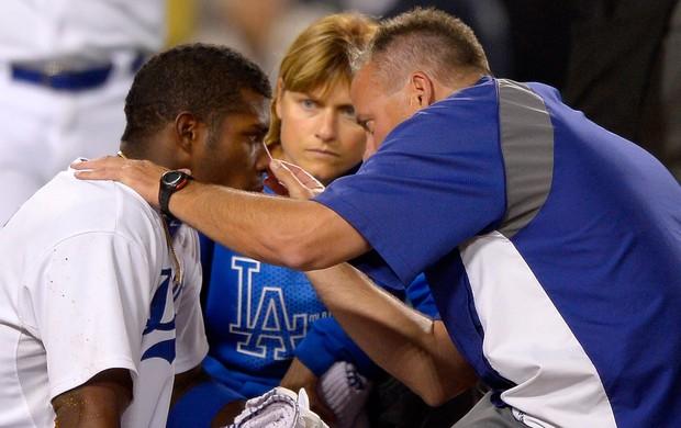 beisebol briga Yasiel Puig LA Dodgers x Arizona Diamondbacks beisebol (Foto: AP)