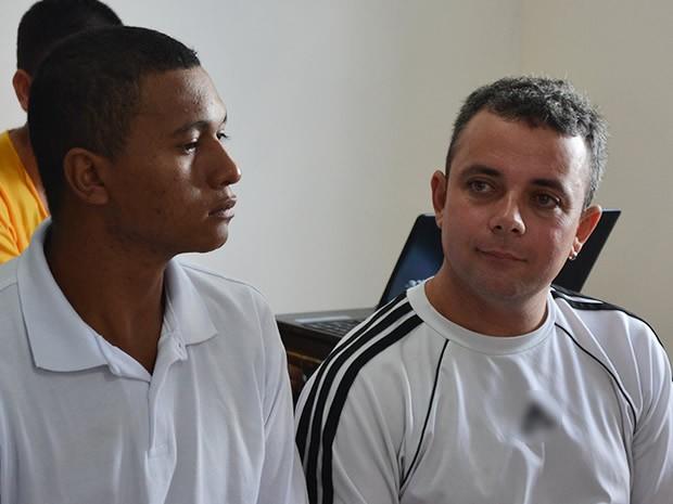 Mauro e Rael se casaram no Centro de Ressocialização de Cuiabá. (Foto: Denise Soares/G1)