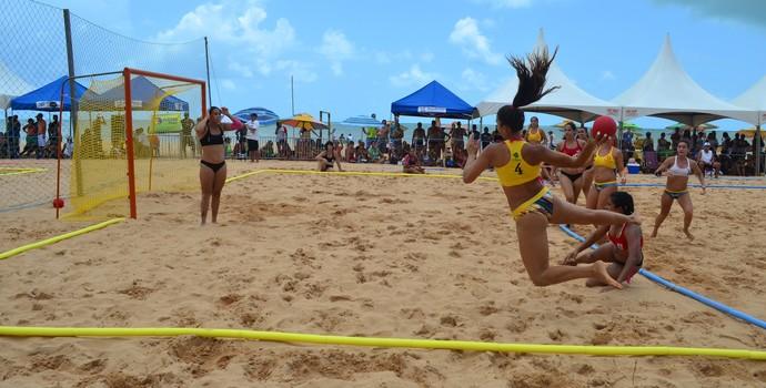 Campeonato Brasileiro de Handebol de Areia em João Pessoa (Foto: Juliana Bandeira / GloboEsporte.com/pb)