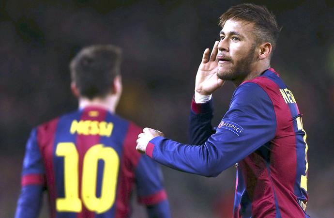 Neymar comemora gol do Barcelona contra PSG (Foto: Agência EFE)
