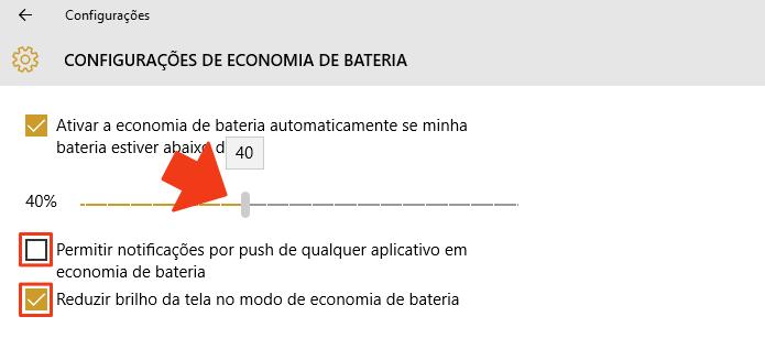 Defina o percentual de ativação e bloqueie notificações (Foto: Reprodução/Paulo Alves)